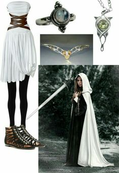 Maybe not the jewelry but the whole outfit it adorable! Elven queen, anybody? Medieval Dress, Medieval Clothing, Mode Outfits, Fashion Outfits, Womens Fashion, Elven Queen, Mode Kpop, Fantasy Dress, Fantasy Outfits