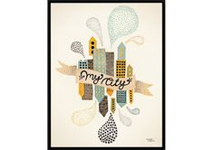 Affiche Michelle Carlslund - My City 2