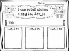 """Comprehension Graphic Organizers~""""Reading Comprehension isn't MONSTER~ous!!!""""  Freebie in the download Preview :o)"""