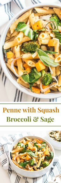 Roasted butternut squash with broccoli, shallots and sage is the essence of fall. When you top it with toasted almonds and capers you've gone into the stratosphere of flavour combustion! From Simply Fresh Dinners.
