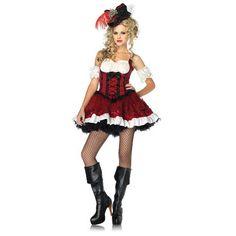 LA83858 Sexy Leg Avenue RAVISHING ROGUE PIRATE Fancy Dress Costume
