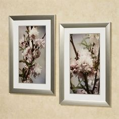 blooming almond floral framed wall art set