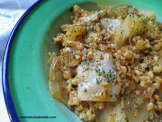 Cabbage with bulgur, ground meat,spices; Bulgurlu Lahana Kapuska | Ozlem's Turkish Table