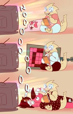 Hahahaha poor Mettaton has to watch anime with Alphys