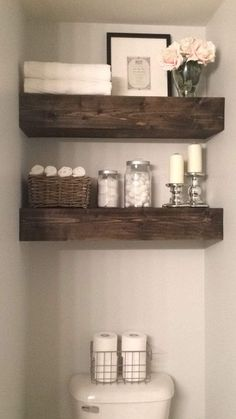 70 Super Ideas For Diy Bathroom Shelves Above Toilet Tubs - Hairstyles & Nails. - most beautiful shelves - Bathroom Shelf Decor, Small Bathroom Storage, Bathroom Organization, Organization Ideas, Small Bathrooms, Wall Decor, Bathroom Furniture, Small Storage, Basement Bathroom