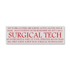 surgical tech!! can't wait to start school in June!!!