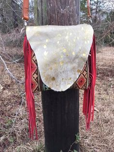 Bar Circle L Leather and Bags crossbody cowhide purse out of acid wash cowhide, red Aztec leather, and red fringe! Cowhide Purse, Tooled Leather Purse, Leather Tooling, Cowhide Leather, Leather Purses, Western Purses, Dream Closets, Leather Jewelry, Aztec
