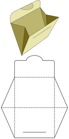 Purple pyramid box for XV years of memory - diy_crafts - Bastelideen Kinderhttp . - Purple pyramid box for XV years of memory – diy_crafts – craft ideas for kidshttps: //hair. Diy Gift Box, Diy Box, Diy Gifts, Paper Crafts Origami, Diy Paper, Paper Art, Paper Folding, Diy For Kids, Envelope Templates