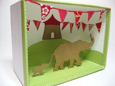 Circus Elephant Diorama