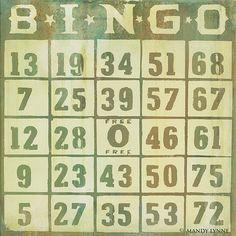 Items similar to vintage bingo - art print on Etsy Free Printable Bingo Cards, Printables, Vintage Christmas Images, Vintage Images, Bingo Board, Board Games, Stacked Hairstyles, Christmas Love, Vintage Love
