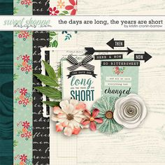 Quality DigiScrap Freebies: The Days Are Long, The Years Are Short freebie mini kit from Kristin Cronin-Barrow