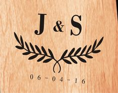 Monogram Cornhole Decal | Set of 2 | Personalized Cornhole Sticker | Custom Wedding Cornhole Decals |  | Cornhole Decal | Wreath Decal
