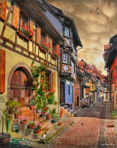 Little Provincial French towns. Eguisheim- France