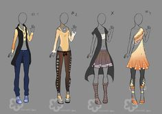 Some Outfit Adopts #5 - sold by Nahemii-san.deviantart.com on @deviantART