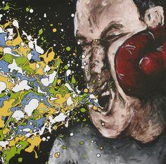 Boxer #3, drip art, mch artwork Drip Art, Messy Art, Background Patterns, Boxer, Artwork, Painting, Design, Work Of Art, Auguste Rodin Artwork