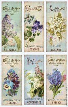 Decoupage Vintage, Vintage Diy, Vintage Tags, Vintage Labels, Vintage Ephemera, Vintage Paper, Vintage Postcards, Vintage Prints, Shabby Chic Flowers
