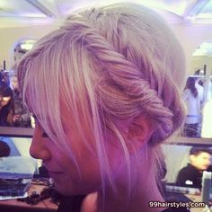 everyone needs to either have hair up or hair down...so we need to vote on this too...do you want hair up or hair down? If it's up I want messy, boho updos like this with the crown/headpiece..if it's down I want like loose waves with the crown/headpieces