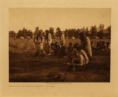 volume 6  facing: page  108 Priests passing before the pipe - Cheyenne
