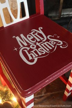 Oh Christmas Chair | Confessions of a Serial Do-it-Yourselfer