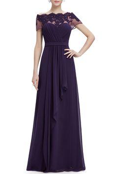 CICI.WANG - Lace See-Through Evening Maxi Dress