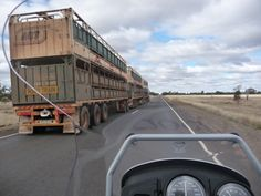 Sharing the road, west of Charleville, western Qld. Many of these Road Trains are over long, so it pays to allow sufficient overtaking distance. Road Train, My Ride, Distance, Trains, Westerns, Bmw, Long Distance Relationships