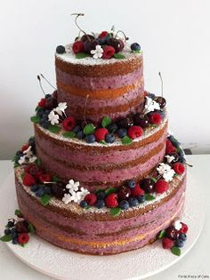 #Nude cakes #Green Weddings