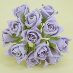 Colourfast Foam Roses Lavender Purple Bud 12 pack - R175