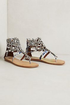 Diamant Sandals #anthropologie- Calling all crafters, any ideas how to DIY these sandals?