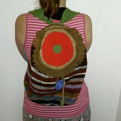 DIY crochet bag  recycled yarn