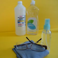 Make your own gentle and effective homemade eyeglass cleaner for just pennies with this easy recipe