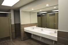 Restroom / Ceramic tile / Solid Surface / Toilet Partitions / Bulkhead #SchottDesign