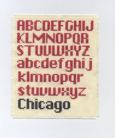 In making my Jack Bauer Cross Stitch, I had such difficulty finding an adequate font for my Bauer quote. All the cross stitch fonts I came across were flowery, cursive capitals. I eventually settle…