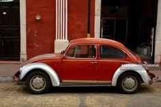 Coccinelle rouge dans les rues de Valladolid