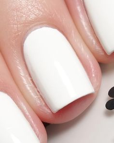 KBShimmer Eyes White Open - Spring 2015 Collection  ( best white creme one coater nail polish )  // Sassy Shelly