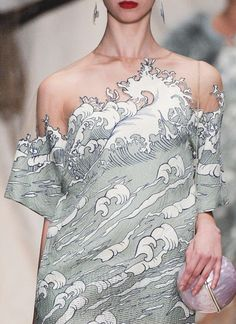 Love a wave print, more on home goods then fashion but, mhabille: Alena Akhamadullina Spring 2016