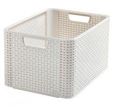 Košík Curver® STYLE L, krémový, 44x23x33 cm Ivoire, Plastic Laundry Basket, Hamper, Discount Designer, Branding Design, Organization, Storage, Vintage, Home Decor