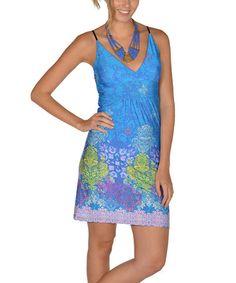 Love this Blue V-Neck Dress - Women on #zulily! 14.99 #zulilyfinds
