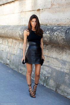 Two Ways: Barbara Martelo   Little Black Dress + Lace-Up Sandals