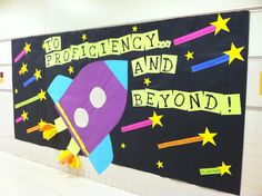 """School Counselor Blog: """"To Proficiency... and Beyond!"""" Test-Taking Tips Bulletin Board"""