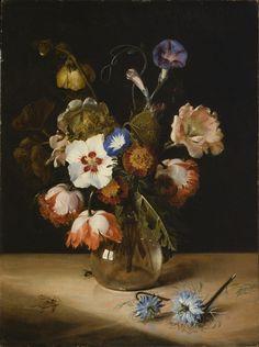 Flowers in a Glass Vase Dirck de Bray (Holland, circa 1635-1694) 1671 ( Dirck de Bray (1635, Haarlem – 1694, Haarlem), was a Dutch Golden Age painter. son and pupil of the painter and architect Salomon de Bray)