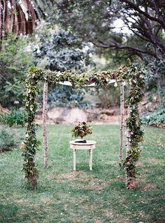 Wedding Bliss Simple Understated Wedding Nuptials. Bash Please Ojai Wedding with Tec Petaja and Found Vintage Rentals