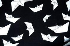 NB16 8423-69 Tricot bootje van papier zwart