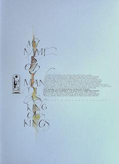 Gemma Black Calligrapher How To Write Calligraphy, Beautiful Calligraphy, Calligraphy Letters, Letter Art, Letter Logo, Writing Art, Mix Media, Illuminated Manuscript, Graphic Design Inspiration