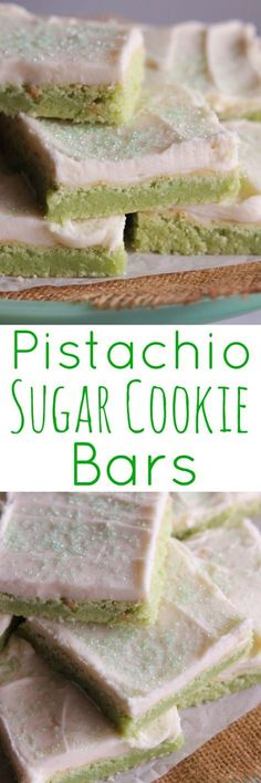 Pistachio Sugar Cookie Bars - Everything you want and more.