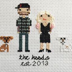 Cross Stitch Family Portrait by @stitchingood