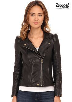There's nothing like the perfect leather jacket to take you from late summer temps to the cool beginnings of fall. Complete any ensemble with this fierce Beach Riot moto-inspired jacket. Superbly soft leather constructs this perfect moto-inspired jacket. Features quilted trim, notched lapel with asymmetrical zip closure and long sleeves with zipper cuffs for a luxe look.
