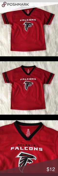Atlanta Falcons Youth Football NFL Jersey SZ S 6 7 Atlanta Falcons Boys  Jersey NFL Team Apparel Boys Size Small 6 7 Red Arm Pit to Arm Pit 16.5