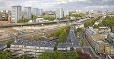 Westbourne Park view towards Paddington by james_rawimages, via Flickr