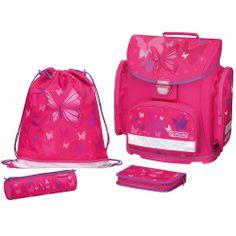 Herlitz Tornister szkolny MIDI PLUS Pink Butterfly