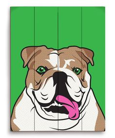 Take a look at this Bulldog Pop Art Wall Art by PetPictures on #zulily today!